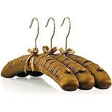 Hangerworld 5 Perchas 41cm Acolchadas Forrada en Raso Caramelo Botones  Antideslizante para Tirantes 0e4fd03c6cc0