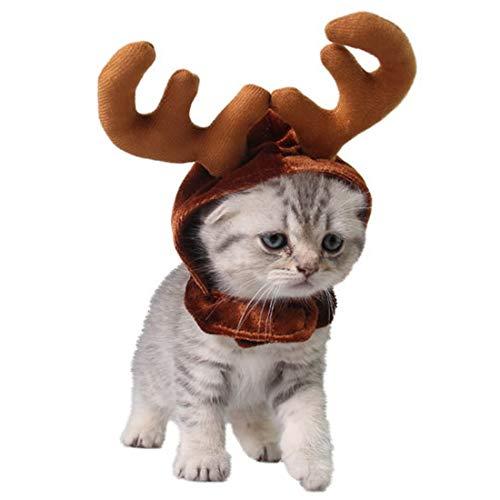Costume Costume - Est 1pcs Headbands Dog Antlers Cap Pet Cat Hat Deer Hats Teddy Gentleman Caps Christmas Costum - Costume Costumes Christmas Care Deer Fenc Home Decor Toothbrush Sculpture Resin