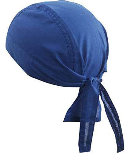 noTrash2003 Design Bandana Cap Mütze Kopftuch verschiedene Farben für Sport und Freizeit (Royal) -