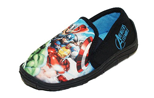 Socks Uwear  Marvel Avengers Prinsep,  Jungen Durchgängies Plateau Sandalen mit Keilabsatz schwarz/red