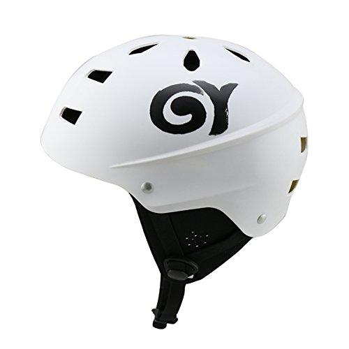 GY SPORTS ABS Versand Bootfahren Kajak Rafting Wassersport Helm Surfbrett Helm mit abnehmbarer Ohrpolster (White, S)