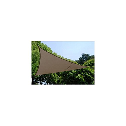 Voile d'ombrage Triangulaire (L5m) Curacao Taupe