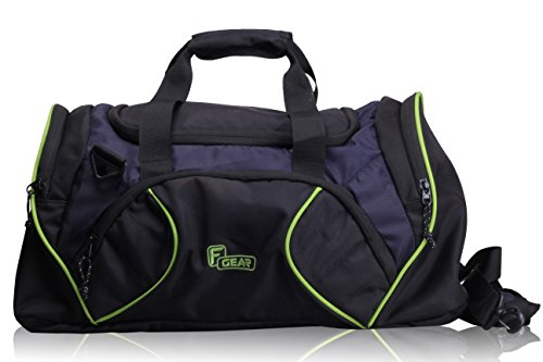 F Gear Metro 27 liter Travel Duffle bag Cum Gym Bag (Black Navy Blue Green)  available at amazon for Rs.799