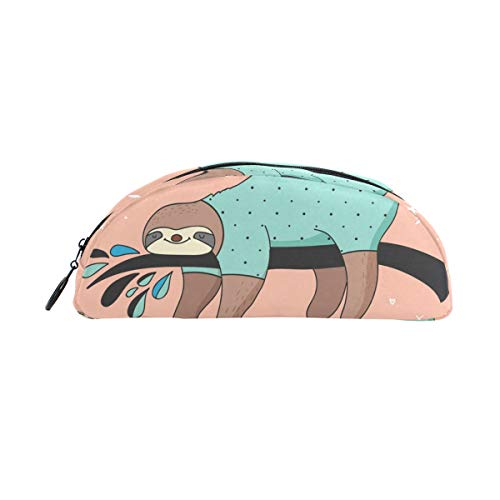 (TIZORAX Faultier Pyjama-Party Federmäppchen Tasche Schreibwaren Stifteetui Box Kosmetik Taschen für Teenager Mädchen Jungen Kinder)