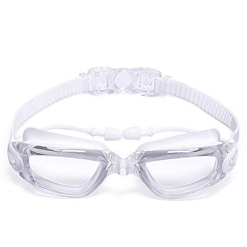 Wasserdichte Schwimmbrille mit Anti-Fog-Schutz und UV-Schutzbrille für Erwachsene (Color : Clear...