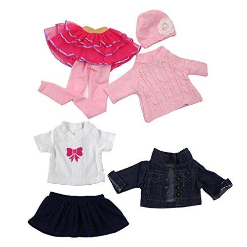 Sharplace 2 Sets Schöne Puppen Herbst Kleidung Outfit Bekleidung Für 18 '' American Girl Puppe Dress up Zubehör (Baby-dress Up Kleidung)