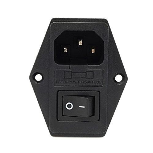 10A 220V Interrupteur de Puissance AC 3 en 1 Fusible Alimentation Socket Sortie Triple 3D Imprimantes Pièces