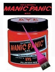 manic panic coloration semi permanente vgtarienne pour cheveux teinture the rouge - Coloration Semi Permanente Rouge