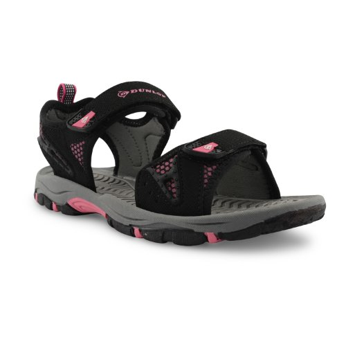 Dunlop - Sandalias deportivas para mujer negro negro, color negro, talla 35