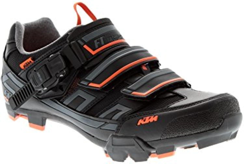 Zapatos Btt Ktm Factory Team Negro-Gris-Anaranjado (Eu 40 / Us 7.5 , Negro)  -