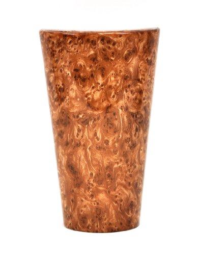 Braun Marmor-glas (It 's aufregende Beleuchtung iel-4400Frosted Marmor Glas Konische Wandleuchte, batteriebetrieben Wandleuchter mit 4Stunde Timer Maserknolle braun)