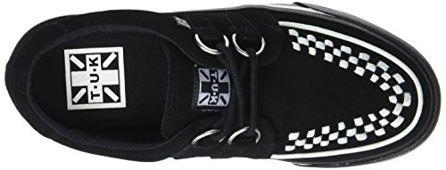 T.U.K. VLK D Ring Creep Sneak Blk Sde Wht INT, Baskets Basses Mixte Adulte Noir (Black/White Suede)