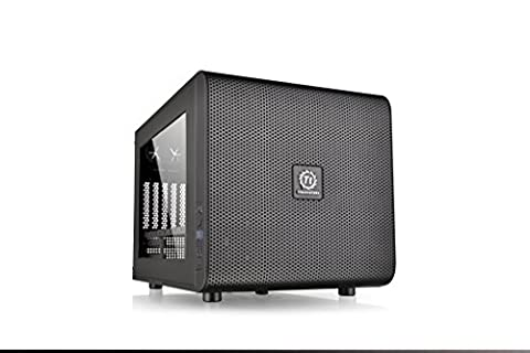 Thermaltake Core V21 Matx Mesh Stackable Case with 200 mm Fan, Black