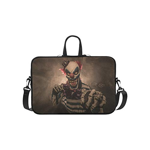 Böse Scary Clown Monster Muster Aktentasche Laptoptasche Messenger Schulter Arbeitstasche Crossbody Handtasche Für ()