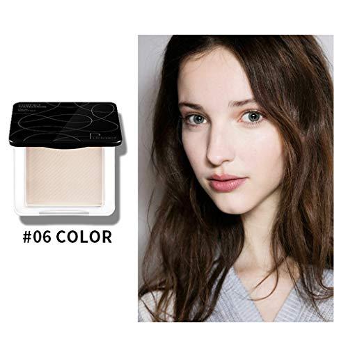 BaZhaHei Pudaier tricolor maquillaje polvo polvo facial