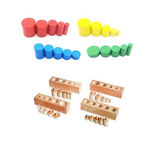 Bloques de cilindros Montessori