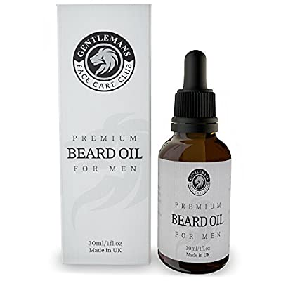 Beard Oil - Premium Beard Conditioning Oil For Men With Subtle Sweet Scent by Gentlemans Face Care Club