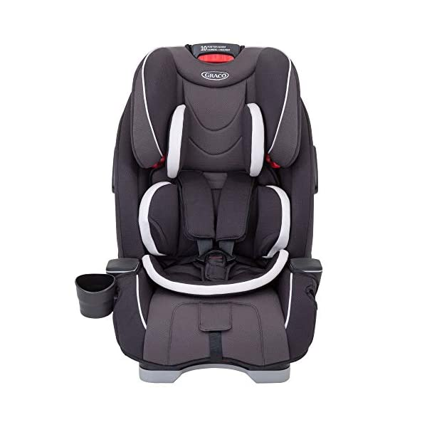 Graco Slimfit All-in-One Car Seat, Group 0+/1/2/3, Pearl Grey Graco 3 in 1 car seat can be used from birth up to 36 kg (approximately 12 years). rearward facing for longer from birth to approx. 4 years (0-18kg) Easily converts to and from the three riding positions; rear-facing harnessed seat (0-18kg), to forward-facing harnessed seat (9-18kg) and to high back booster (15-36kg) True shield safety surround side impact protection for enhanced safety 1
