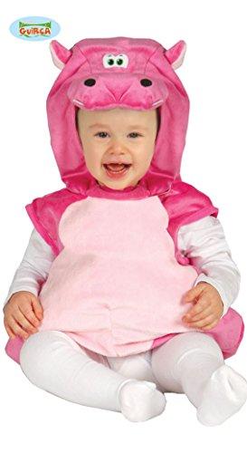 Rosa Baby Nilpferd - Kostüm für Kinder Gr. 86 - 98, Größe:92/98 (Baby Halloween-kostüme Hippo)
