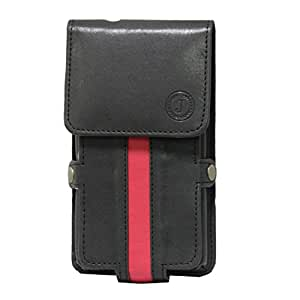 Jo Jo A6 Nillofer Series Leather Pouch Holster Case For Sony Xperia L Black Red