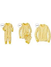hibote Familia de pijamas de Navidad Familia juego de ropa conjunto