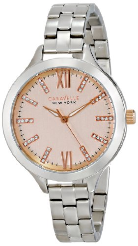 Caravelle New York by Bulova Women's 45L141 Analog Display Japanese Quartz White Watch