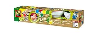 SES Creative- Set de Cuatro Pinturas para Dedos ecológicas para niños SES, (24926)