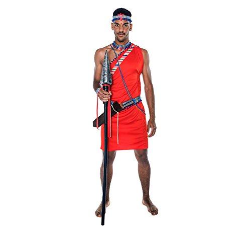 Imagen de disfraz de guerrero masai para hombre