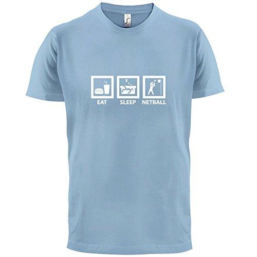 Eat Sleep Netball - Herren T-Shirt - 13 Farben Himmelblau