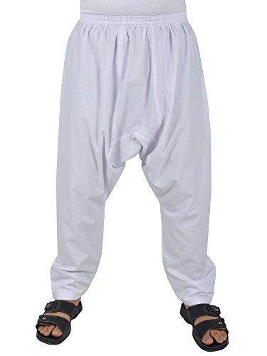 Herrenhose Sunnahose Herren - Hose arabische Islamische Männer Sunna Hose (44-46 (S), Weiß) (Islamische Kleidung)