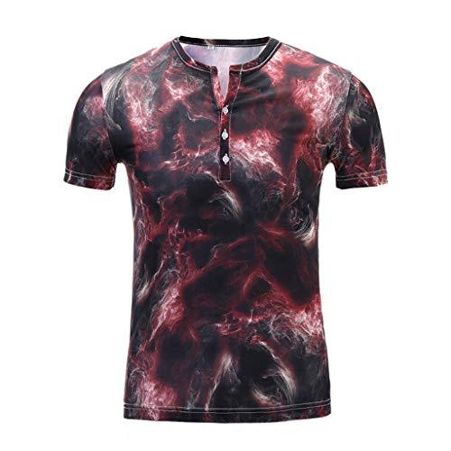 LUCKYCAT Herren T-Shirt Kurzarm Shirt mit Rundhalsausschnitt Herren Tanktop Basic Unifarben Tank Top Tankshirt T-Shirt Unterhemden Ärmellos Muskelshirt Sport