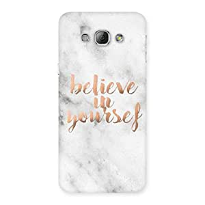 Stylish Believe Your Self Printed Back Case Cover for Galaxy A8