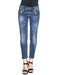 Amazon.it  strass - Blu   Jeans   Donna  Abbigliamento e8ccdcc0486