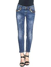 7e91d7feefae Gaudi jeans blu strass donna elasticizzato skinny