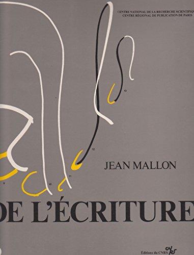 De l'écriture, recueil des études publiées de 1937 à 1981