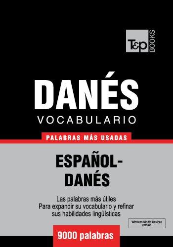Vocabulario español-danés - 9000 palabras más usadas
