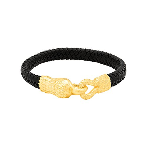 Dare By Voylla Brass Bracelet With Yellow Gold Plating For Men
