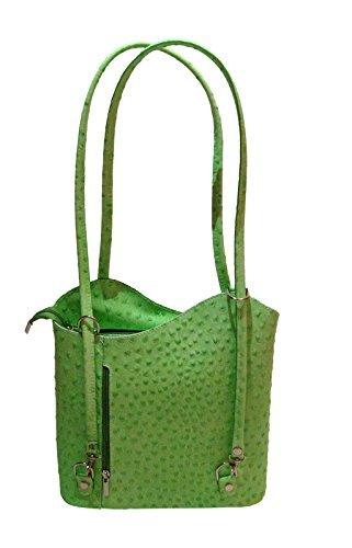 New Style Design 100% Straußenleder Italy Tasche in Grün. Top Model Croco (Straußenleder-tasche)