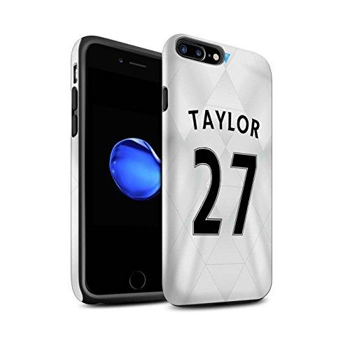 Officiel Newcastle United FC Coque / Matte Robuste Antichoc Etui pour Apple iPhone 7 Plus / Tioté Design / NUFC Maillot Extérieur 15/16 Collection Taylor