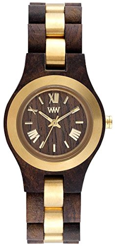 WEWOOD Criss ME Choco Rough Gold - Reloj de mujer