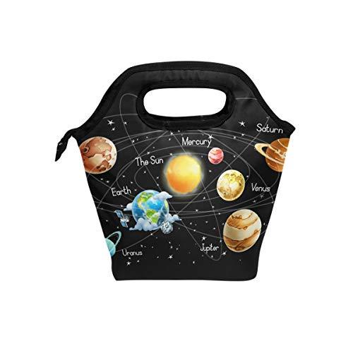 Bolsa de almuerzo Mysterious Universe Galaxy Solar System Colorful Planet Cooler Handbags...