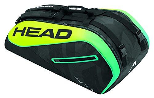 HEAD Unisex Extreme 9R Supercombi Tennisschläger Tasche, Schwarz/Gelb/Blau, One Size