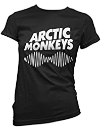 Camiseta Mujer Arctic Monkeys - camiseta rock band 100% algodon LaMAGLIERIA