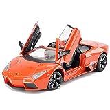 ZTXCM 1/24 modèle de Voiture Simulation de Voiture de Sport en Alliage modèle de Voiture garçon Jouet décoration de Voiture Raventon Décapotable - Orange/Jaune (Color : Orange)