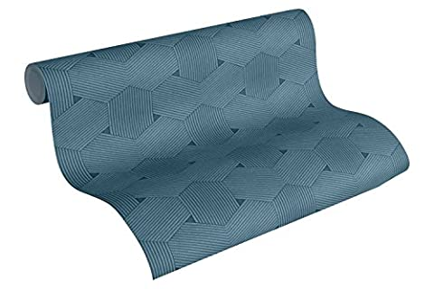 A.S. Création Vliestapete Urban Life Tapete Ethno Look 10,05 m x 0,53 m blau metallic Made in Germany 326595