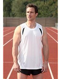 Adultes Sport Gym Débardeur de course à pied-blanc - 86–91 cm