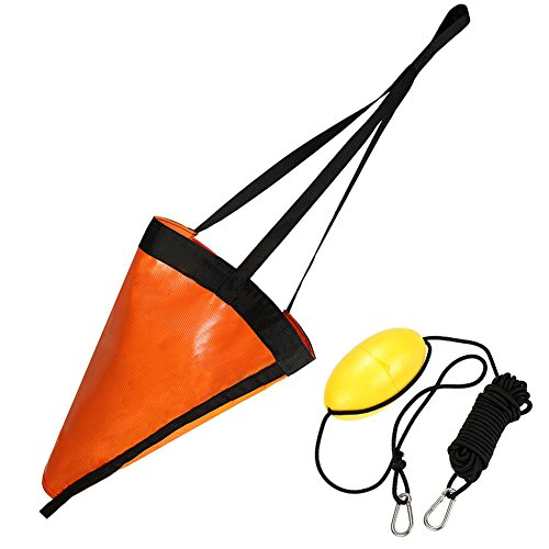EDtara Geschenk Ankerausrüstung,Bootsan zubehör,Boot Anker Drogue Set + Treibanker Abschleppseil Float Anzüge für Angeln Kanu 42 inch Anchor + Float