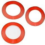 3Pcs mixte Taille Apiece 25metres 1mm 2mm 3mm 3m ruban adhésif double face Sticky Rouge pour téléphone portable Panneau LCD écran écran réparation boîtier