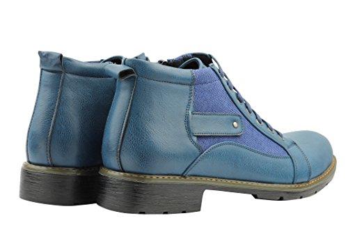 Xposed , Bottes militaires homme Bleu - Bleu