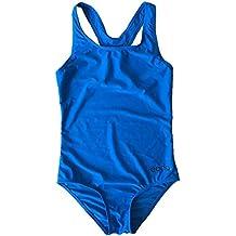Eono Essentials, costume da bagno intero, da bambina, taglia 16 anni, colore blu